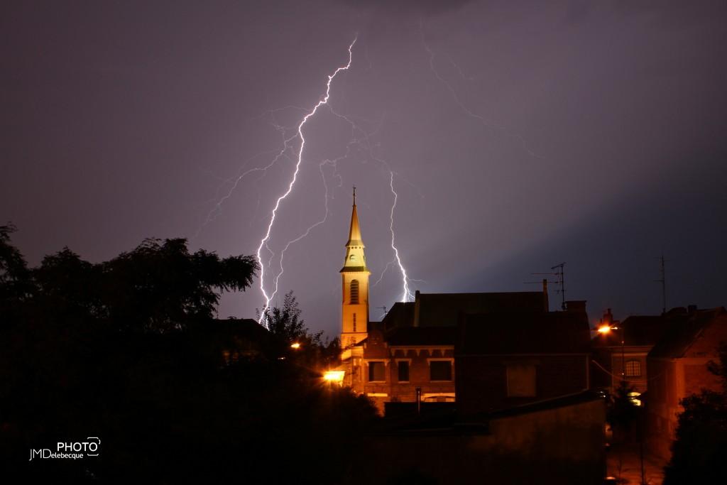 Orage sur Prémesques été 2015